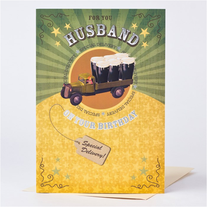 birthday card husband special delivery only 99p