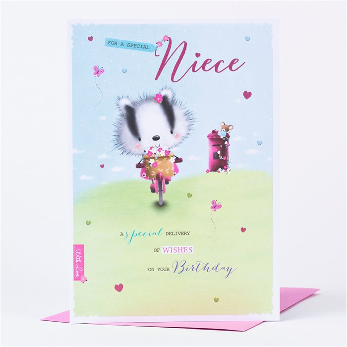 birthday card niece special delivery only 89p