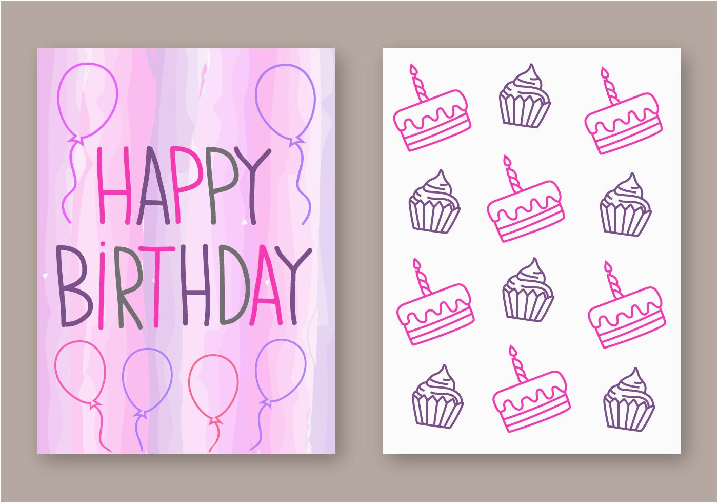 105599 free happy birthday card vector