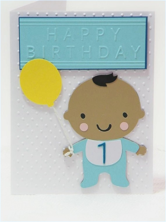 Birthday Card For 1 Year Old Boy Cards One Baby Draestant