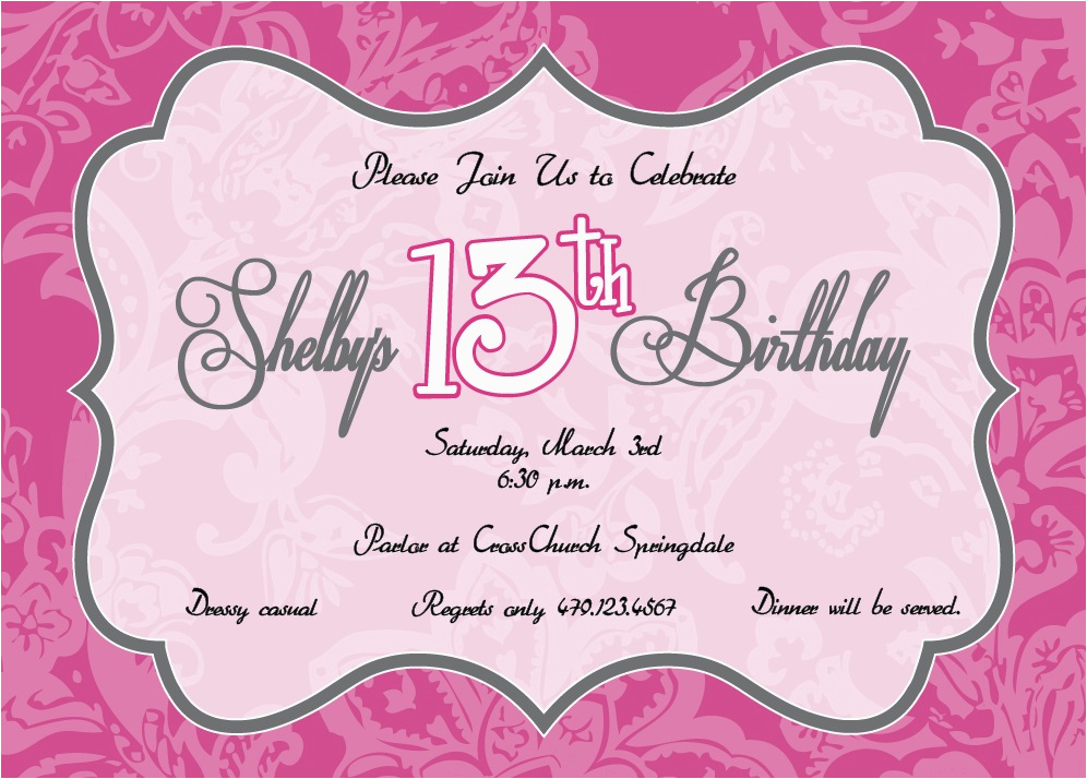 giraffic arts shelby s 13th birthday birthday card for 13
