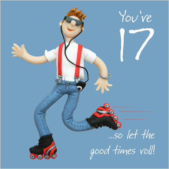 Birthday Card For 17 Year Old Boy 17th Male Greeting One Lump Or Two