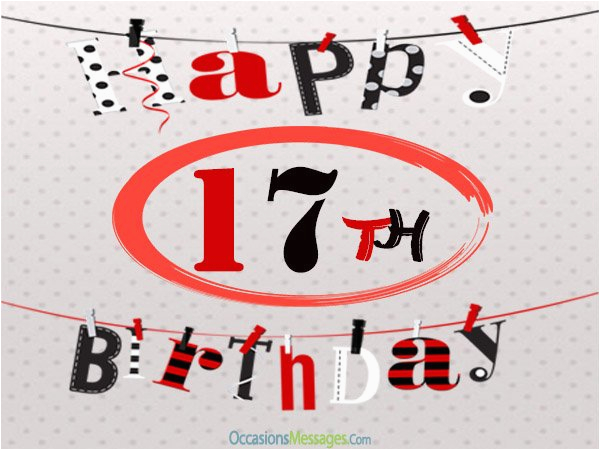 Birthday Card For 17 Year Old Boy 17th Wishes And Greetings Occasions Messages