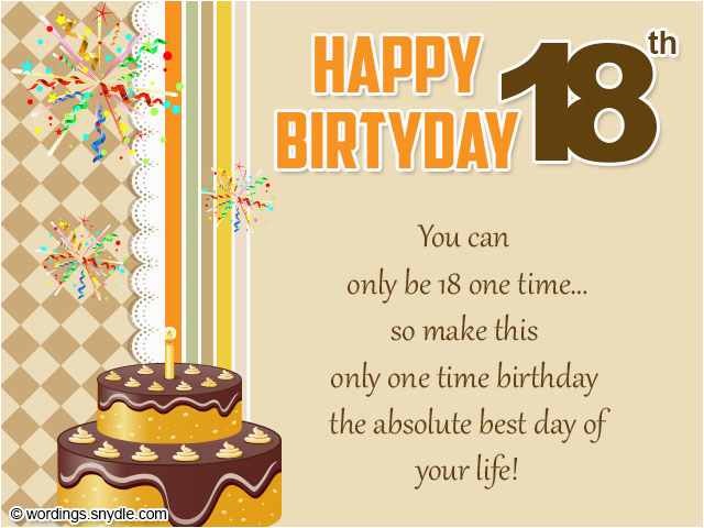 Birthday Card For 18 Year Old Daughter 18th Wishes Greeting And Messages Wordings