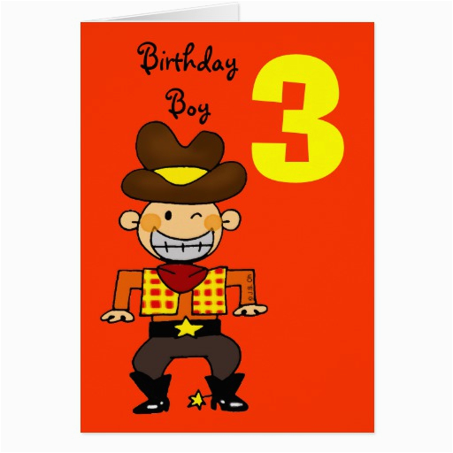 3 Year Old Birthday Boy Greeting Cards 137276090141165889