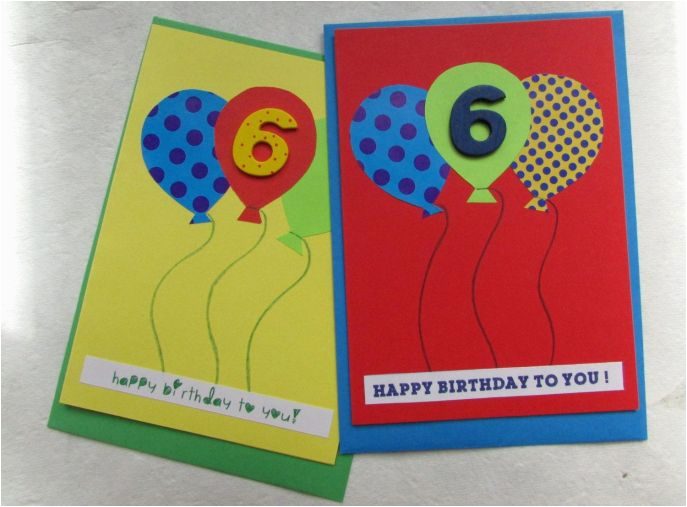 Birthday Card For 6 Year Old Boy The Most Stylish
