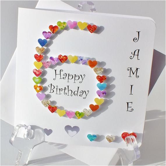 Birthday Card For 6 Year Old Boy Handmade 3d 39 6th