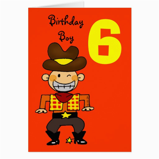 Birthday Card For 6 Year Old Boy Greeting Zazzle