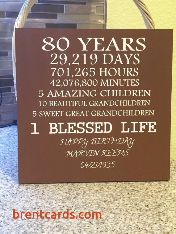 birthday card for 80 year old woman fresh 80 year old birthday by creativesignsbytal on etsy