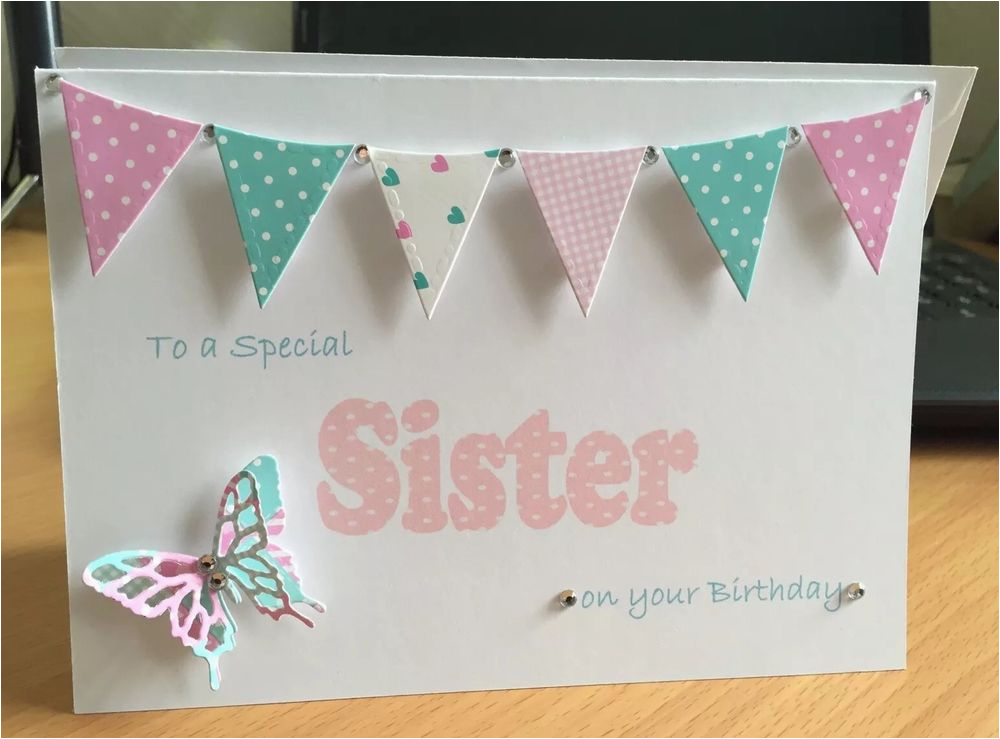 Birthday Card For A Cousin Sister Handmade Personalised Cards Gift Mum