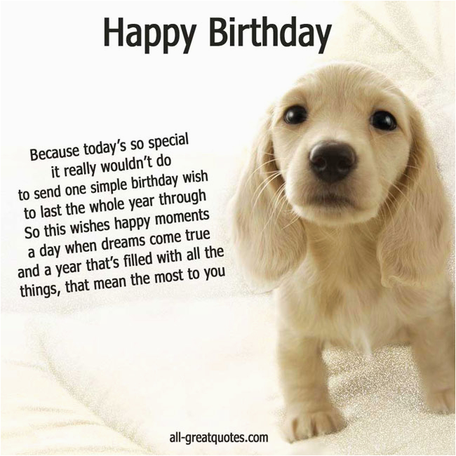 Birthday Card for A Dog Dog Birthday Quotes Quotesgram