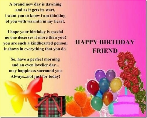 birthday wishes for a good friend
