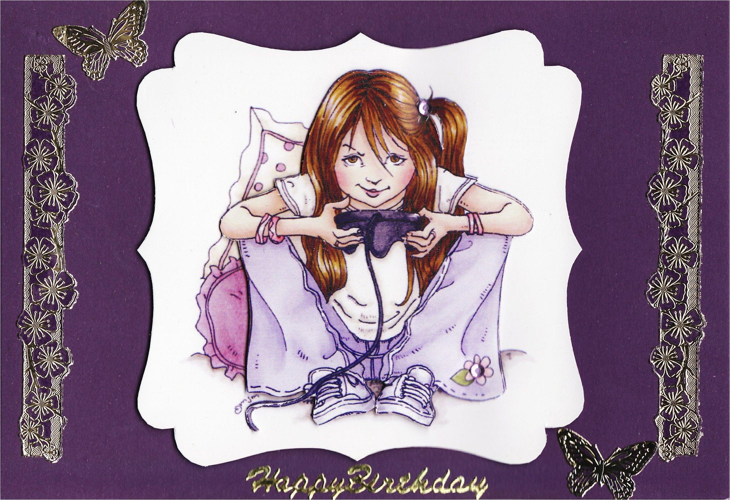 3d 39 happy birthday 39 teenage girl card tassie scrapangel