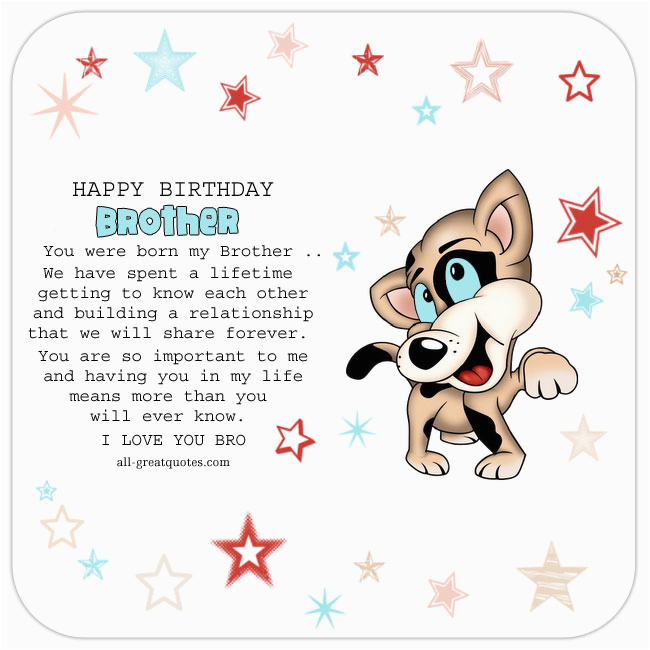 Birthday Card For Brother Facebook You Were Born My Bro Free Cards