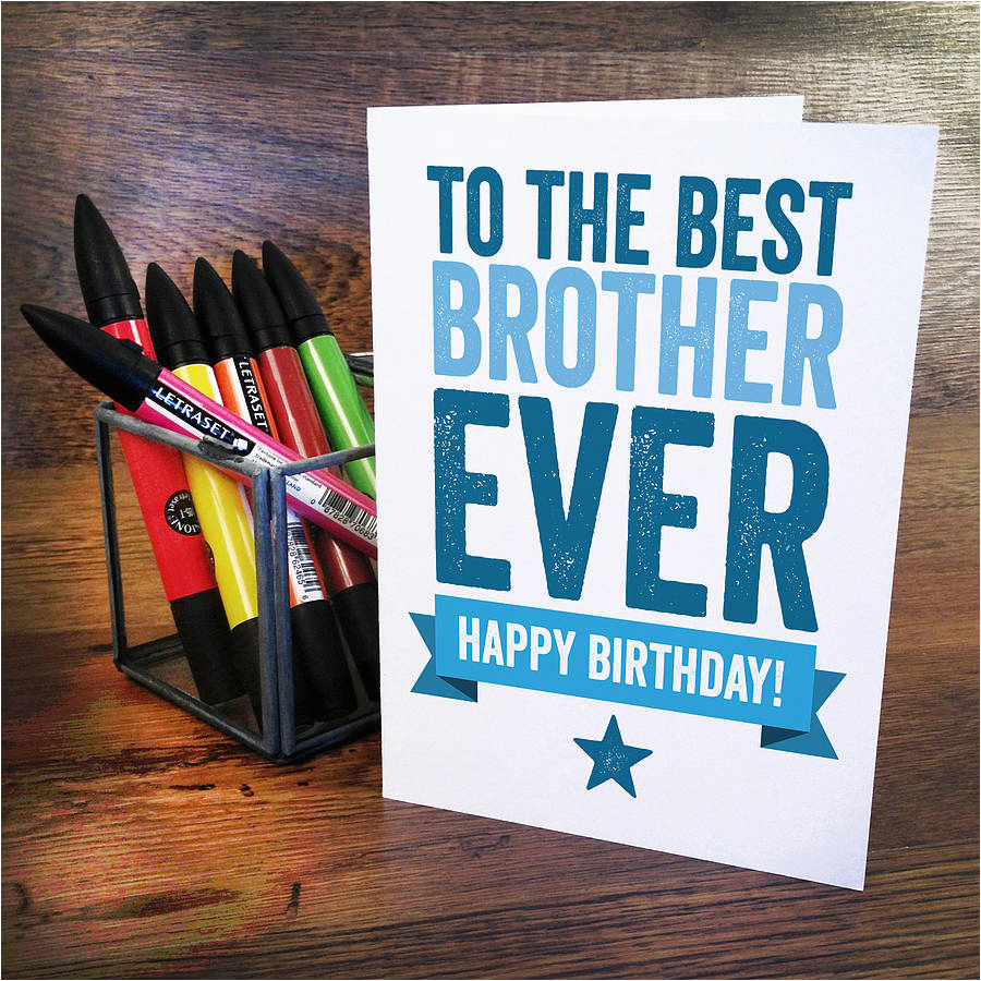 best brother birthday card by a is for alphabet
