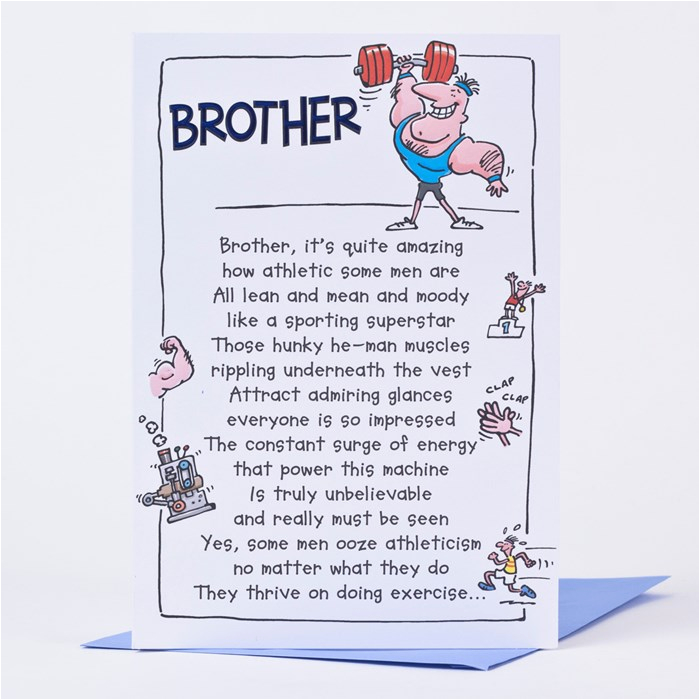birthday card brother athletic only 89p