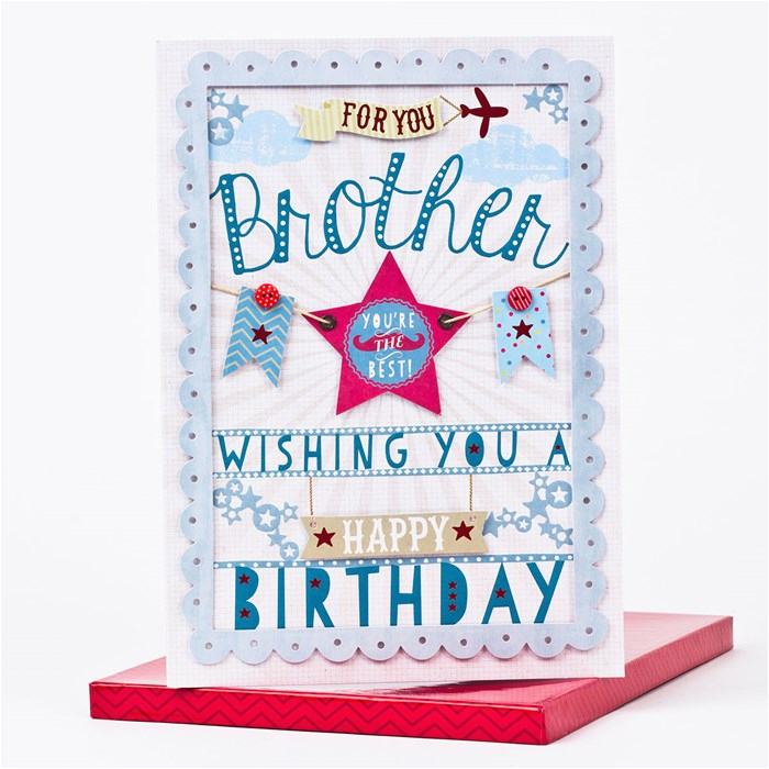 boxed birthday card brother you 39 re the best only 1 99