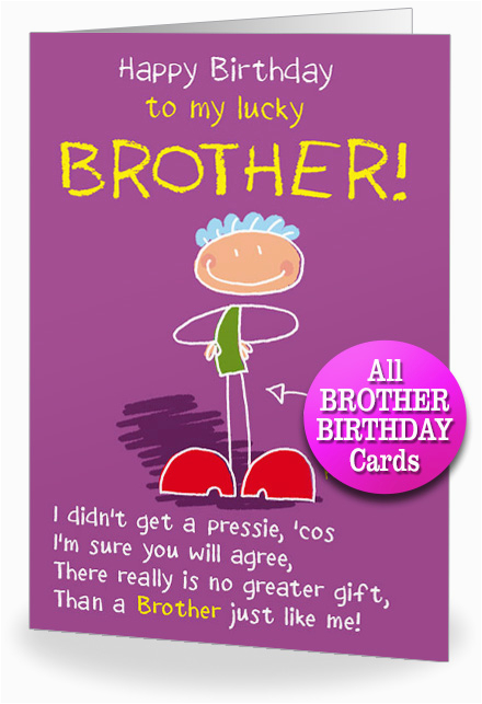 card for brother birthday cards for brothers