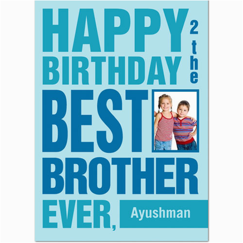photo birthday card for best brother