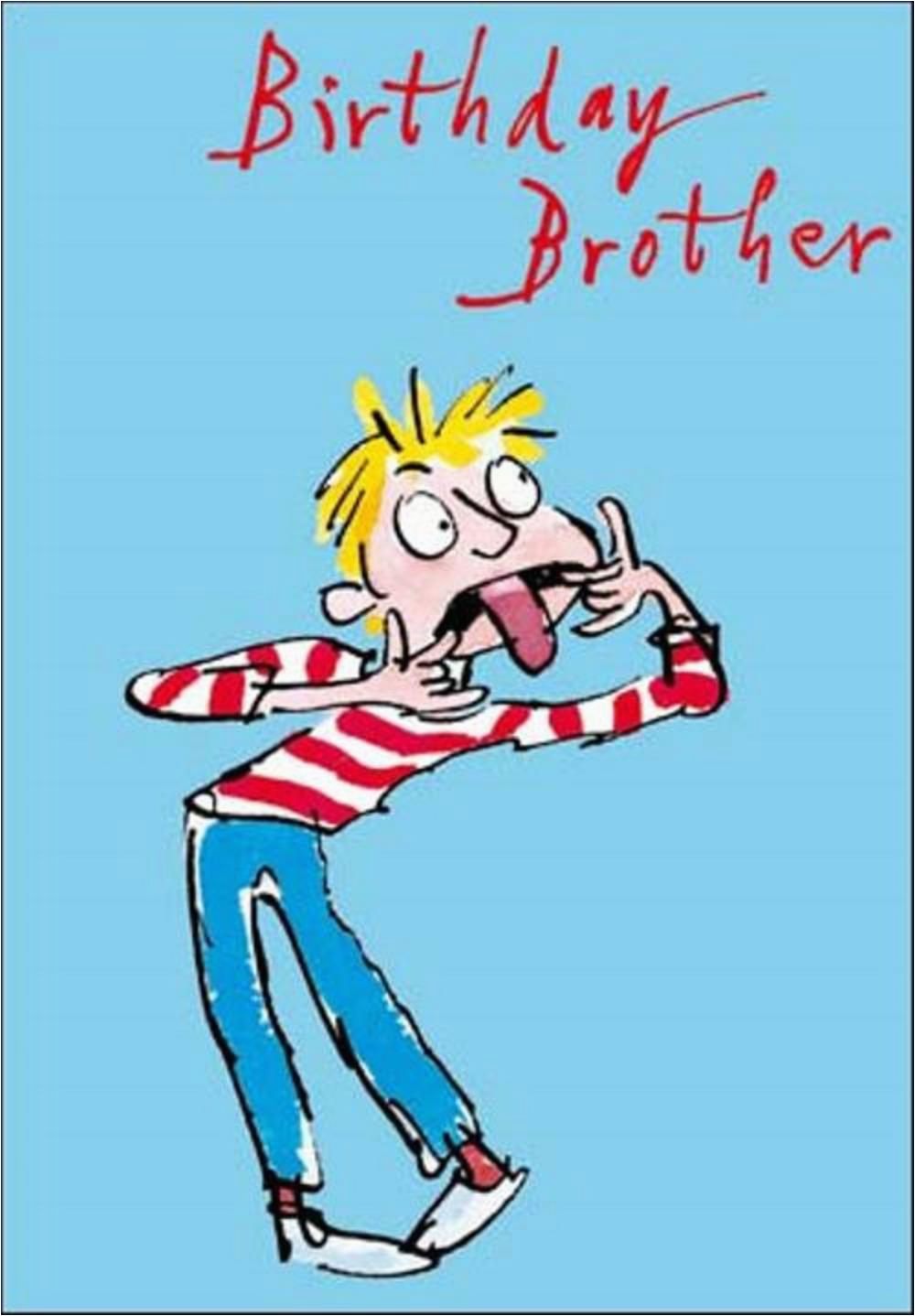 quentin blake brother birthday greeting card cards