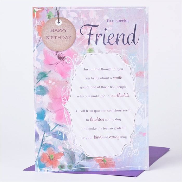 Birthday Card for Close Friend Birthday Card A Special Friend Indeed Only 89p