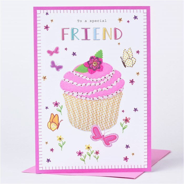 birthday card cupcake for a special friend only 89p