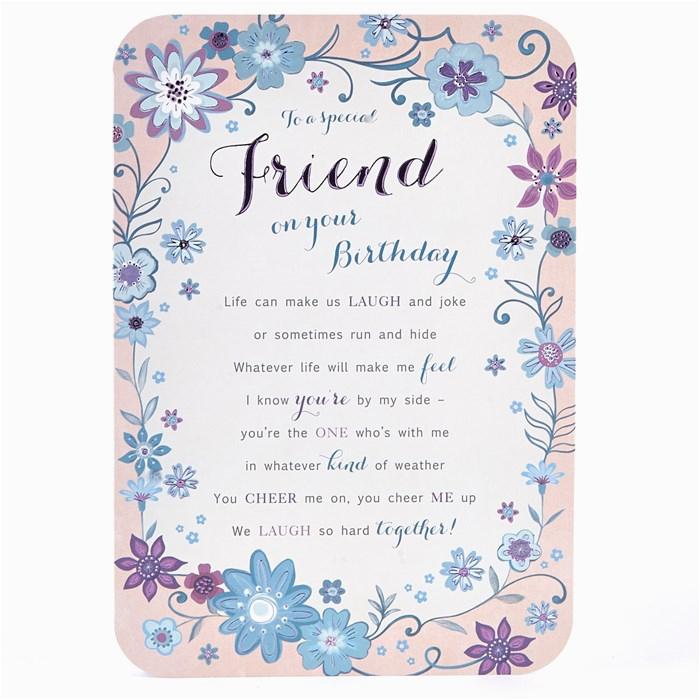 special friend birthday card laugh joke card factory
