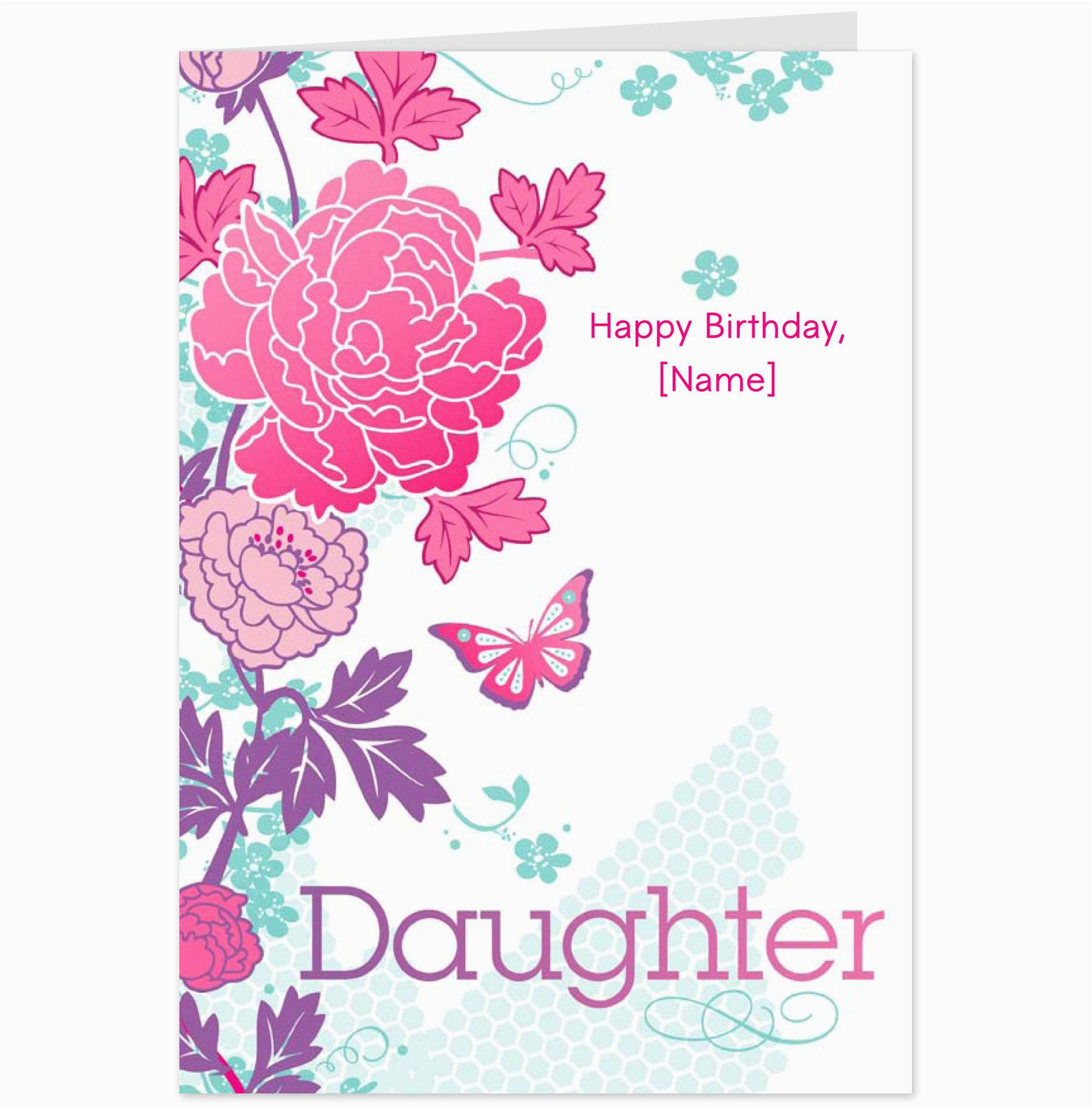 Birthday Card For Daughter Free Download Cards Mom From Printable Www
