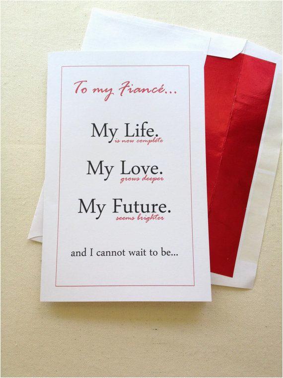 fiance birthday card