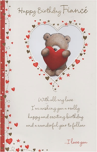 Birthday Card For Fiance Male Relation Cards Happy