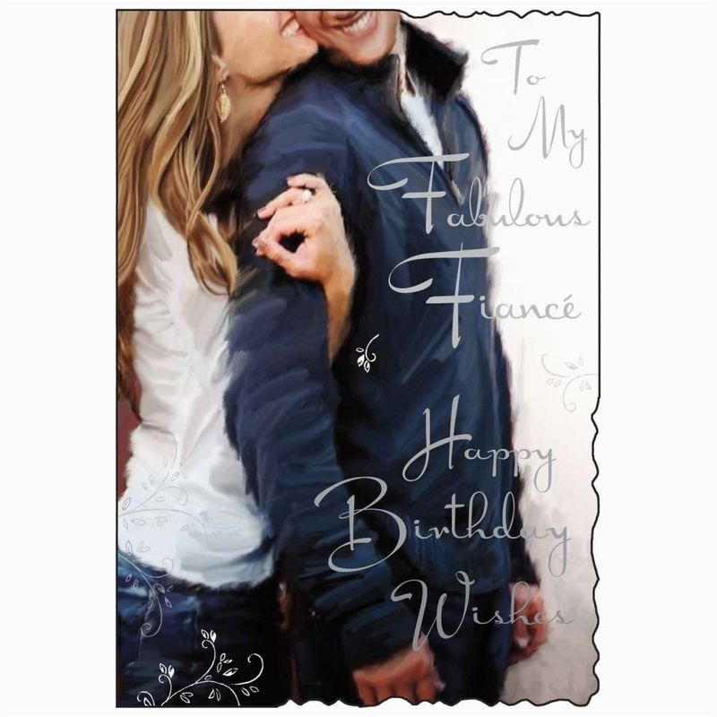 to my fabulous fiance birthday card