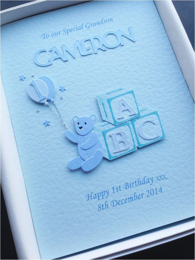 Birthday Card For Grandson 1st First Son Nephew Personalised