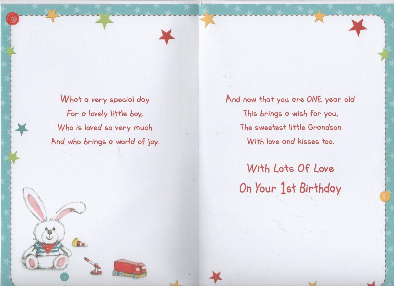 grandson 1st birthday card ebay