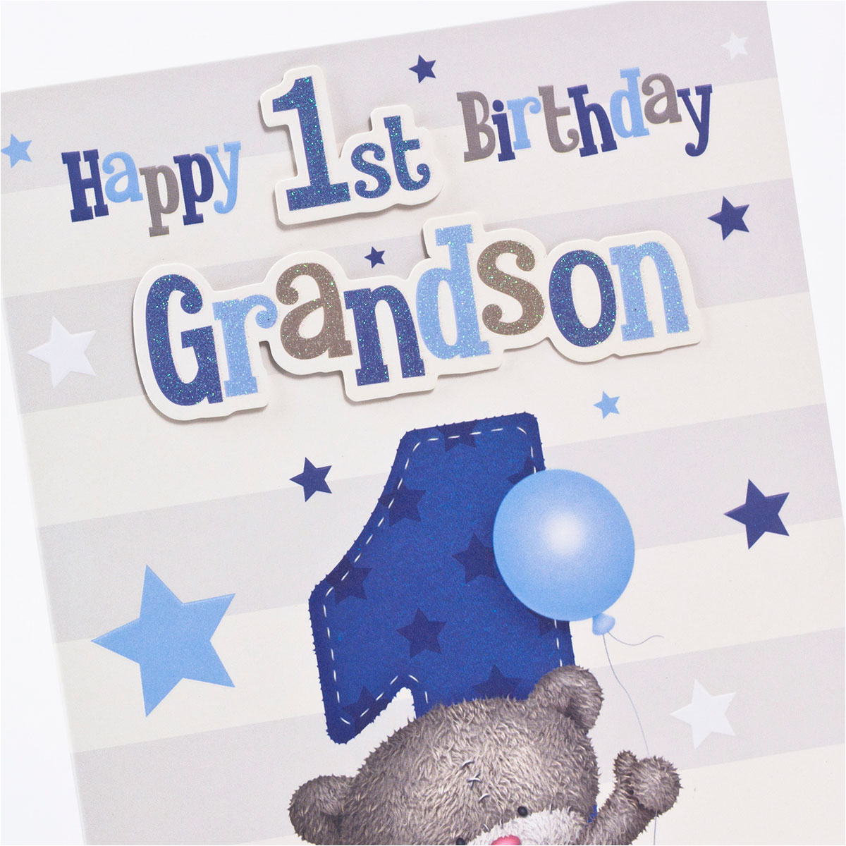 hugs 1st birthday card grandson only 1 49