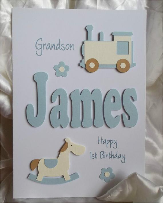personalised handmade 1st 2nd 3rd etc birthday card son