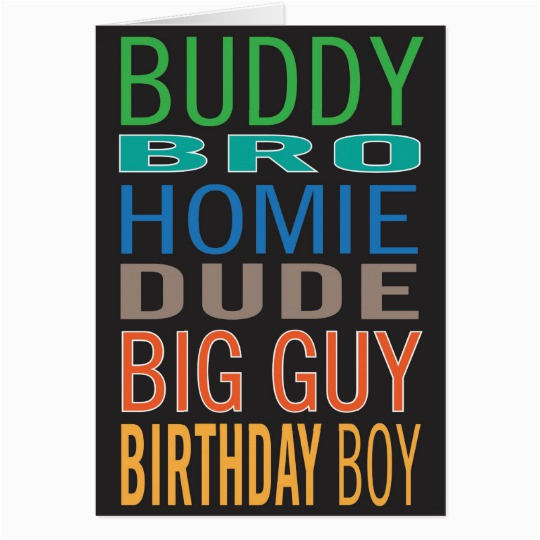 birthday card for guy male man friend zazzle com