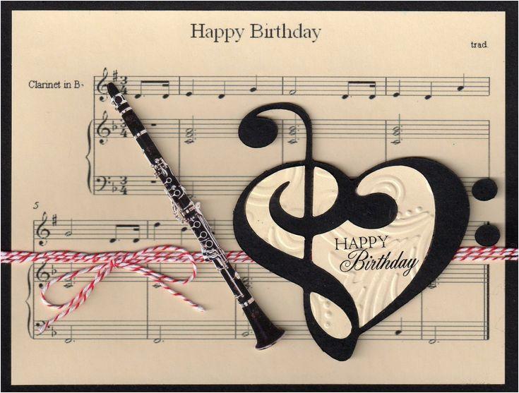 Birthday Card For Musician Music Clarinet Pinterest