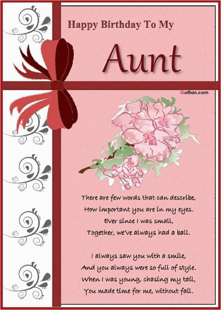 Birthday Card For My Aunt 65 Wonderful Messages Golfian Com