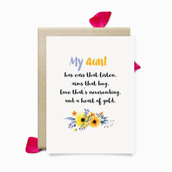 Birthday Card For My Aunt Cute Mothers Day Gift Printable