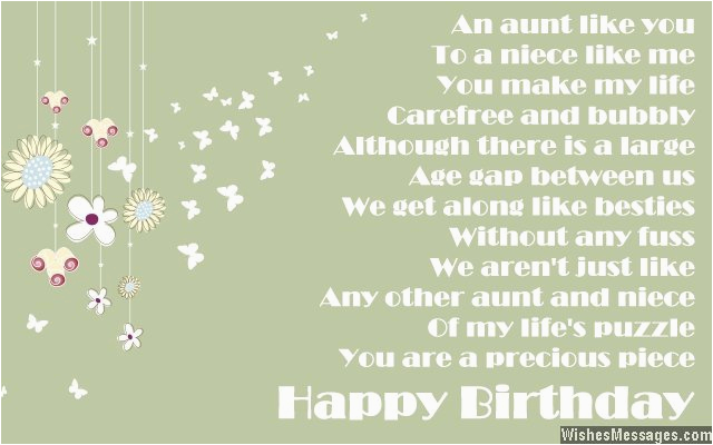 Birthday Card For My Aunt Poems Wishesmessages Com
