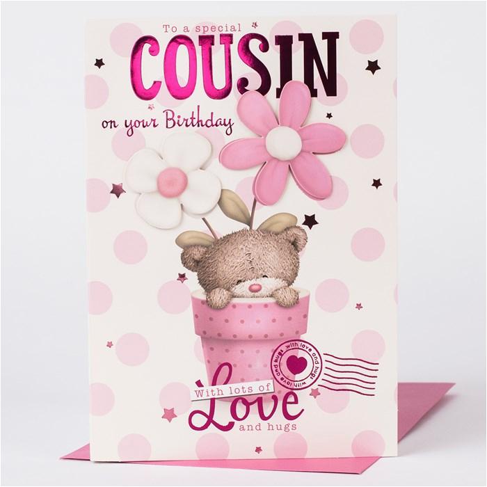 hugs birthday card cousin