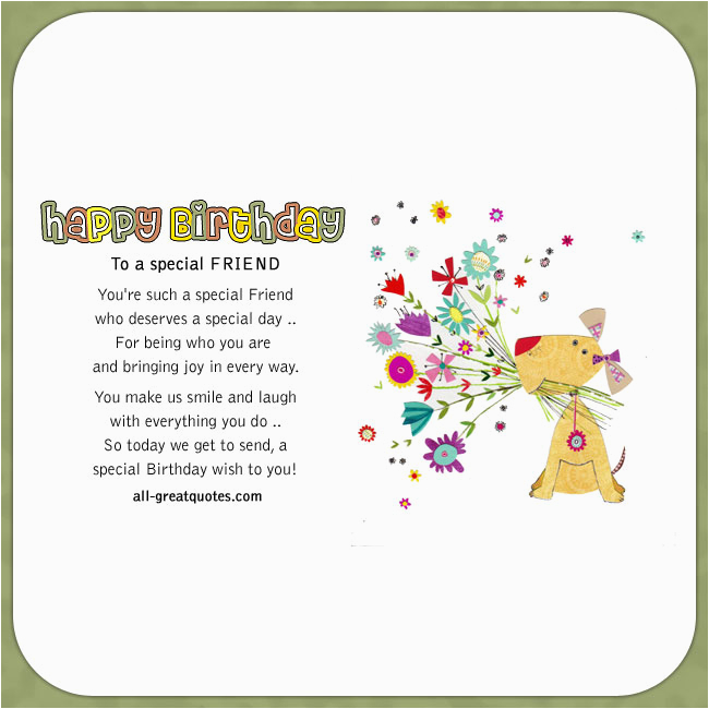 happy birthday to a special friend 2