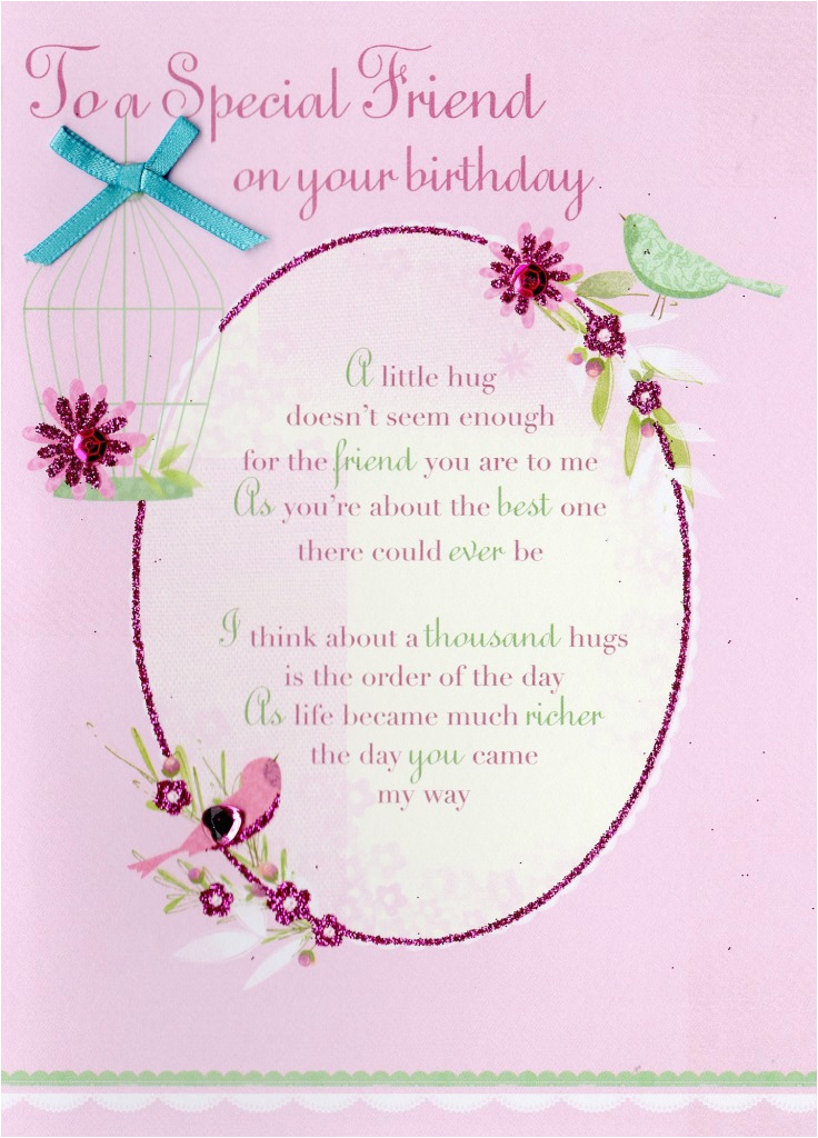 Birthday Card for Special Friend Message Special Friend Birthday Greeting Card Cards