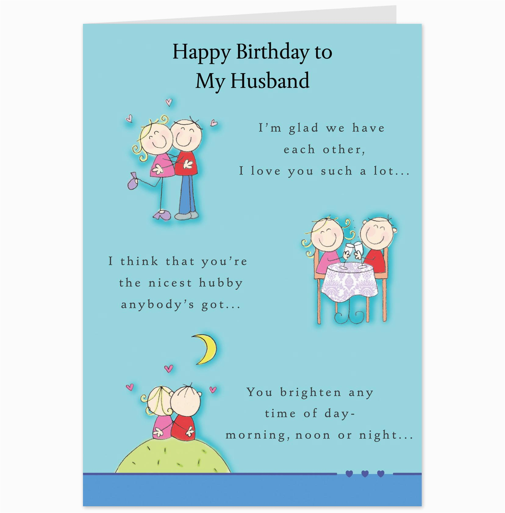 birthday card for husband intended for birthday card for