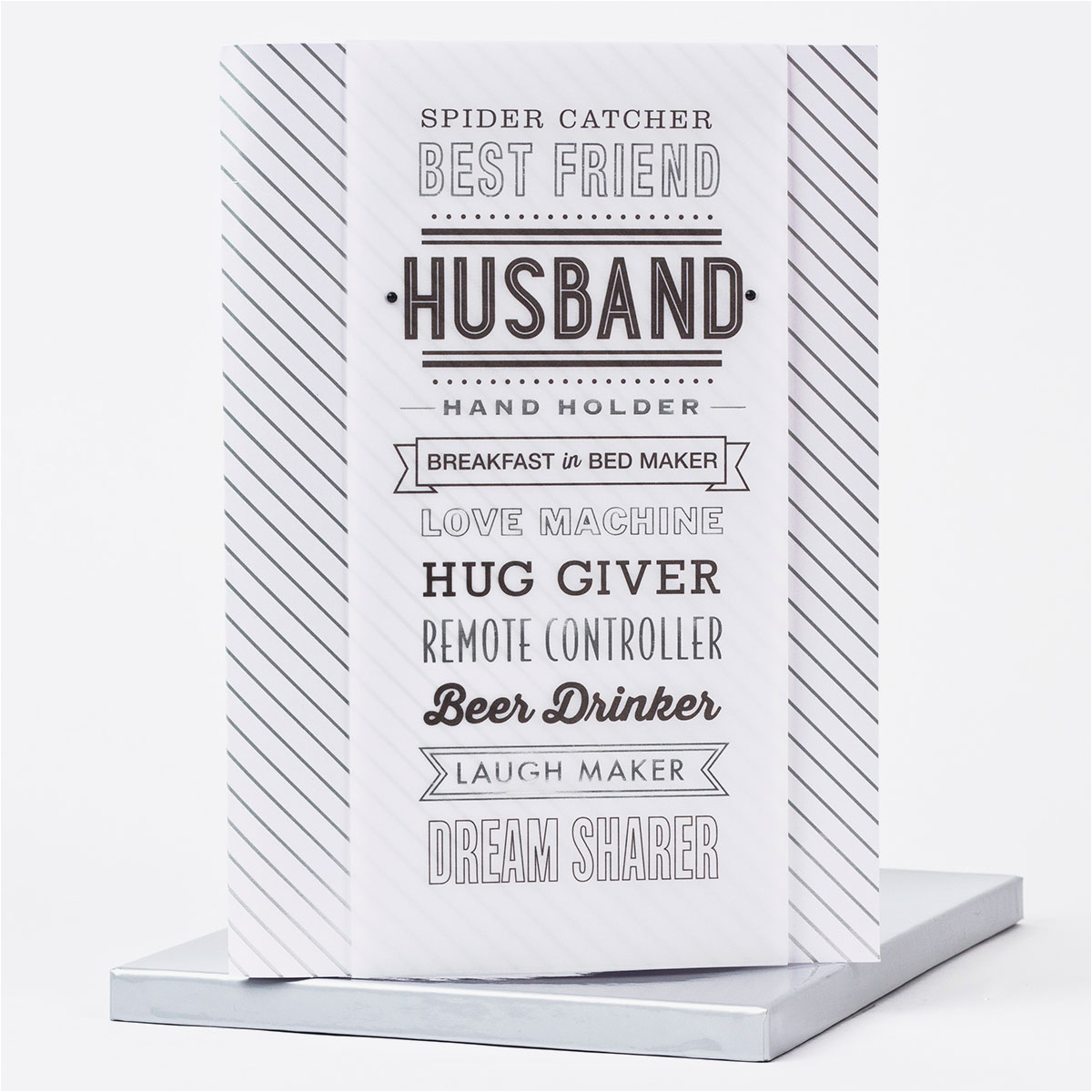 boxed birthday card husband only 1 99