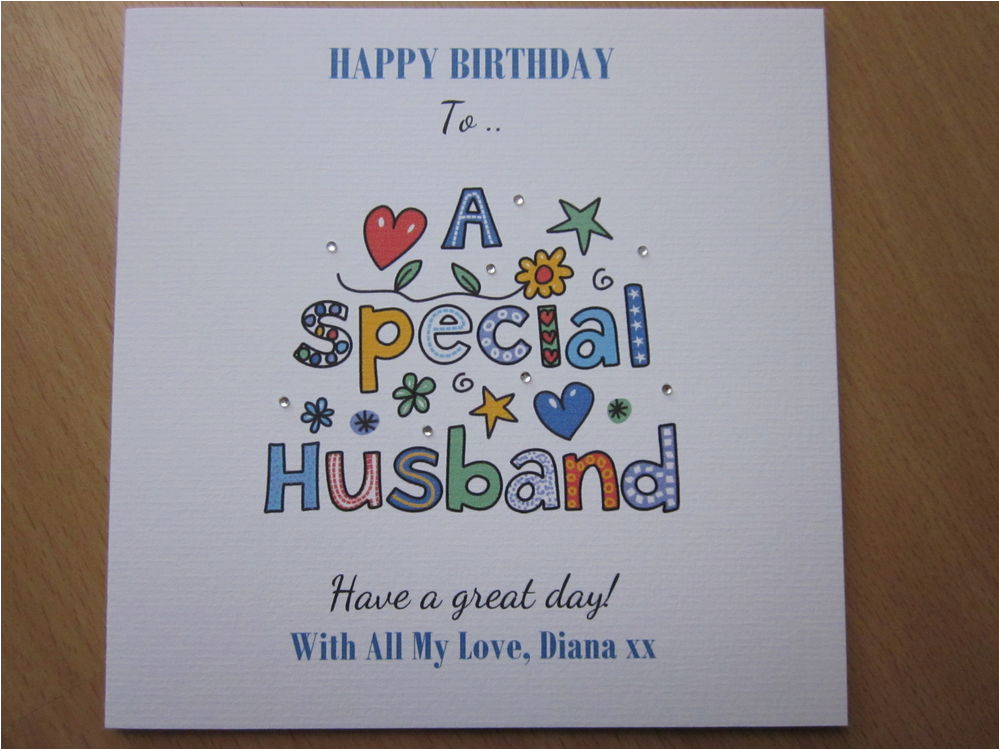 Birthday Card For Spouse Personalised Handmade Husband 40th 50th
