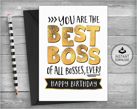 boss birthday card card for boss boss appreciation card