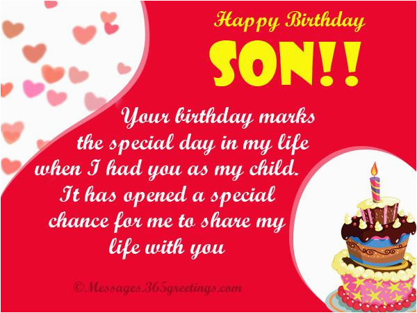 Birthday Card From Mother To Son Wishes For 365greetings Com