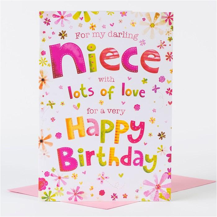 birthday card darling niece only 99p