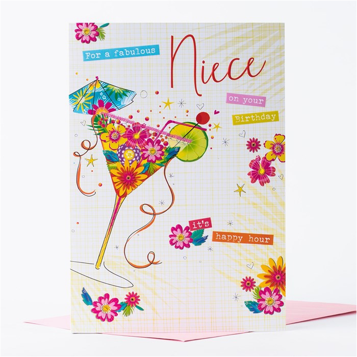 birthday card niece cocktail only 99p